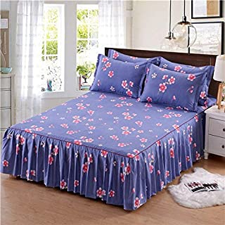 Rocco Bedding Sets - Striped Printing Single Double Bed Skirt Mattress Cover Home Textile Room Decoration Luxury Bed Cover Shirt for 1.5/1.8/2.0m Bed - by 1 PCs