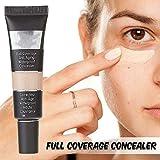 Wcjing Corrector impermeabilizante de Cobertura Total Impecable, Maquillaje de Base Mate Resistente al Agua, Brillo Desnudo Mate de Larga duración, Sombra para Toda la Piel (Medium, 1pcs)