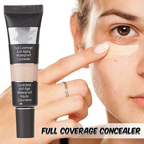 Wcjing Corrector impermeabilizante de Cobertura Total Impecable, Maquillaje de Base Mate Resistente al Agua, Brillo Desnudo Mate de Larga duración, Sombra para Toda la Piel (Medium, 5pcs)