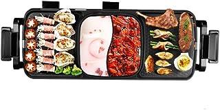 Huishoudelijke Multifunctionele Barbecue Koekenpan Dual-Purpose Barbecue Hot Pot Een Pot Elektrische Hot Pot Elektrische B...