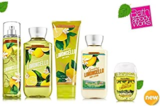 Bath & Body Works SPARKLING LIMONCELLO Deluxe Gift Set Lotion ~ Cream ~Fragrance Mist ~ Shower Gel + Small Sanitizing Hand Gel Lot of 5