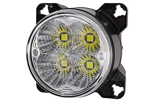 Hella 1G0 996 263-511 Arbeitsscheinwerfer - M90i - LED - 12V/24V - Einbau - weitreichende Ausleuchtung - Deutsch