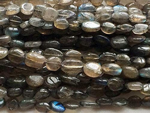 GemAbyss Beads Gemstone 1 Strand Natural Oval Max 70% OFF Labradorite Finally popular brand Plain