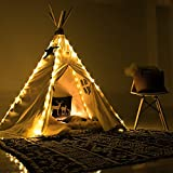 little dove 5 String LED Fairy Lights for Teepee Tents Battery Operated Waterproof LED Strings for Wedding Party Centerpieces Bedroom Kids Decoration (Tent Not Included)