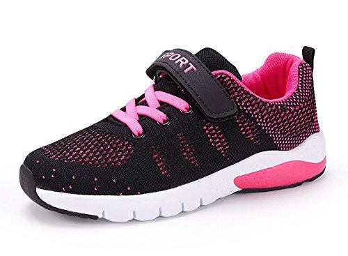 MAYZERO Unisex-Kinder Sneakers Laufen Schuhe Sportschuhe Sneakers Jungen M?dchen Low-Top Sneakers, Rose, 32 EU