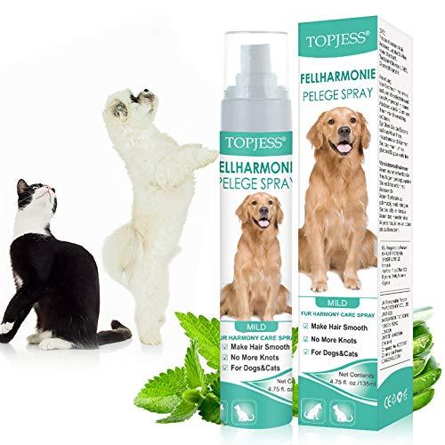 Spray Desenredante para Perros, Desenredante y Acondicionador Perros, Spray Acondicionador para Perros, Spray para el Cuidado del Pelo de Perros, Aseo muy fácil y eficaz, 135ml