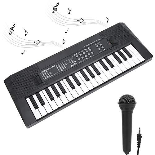 Tastiera Elettronica Portatile Bambini con 37 Tasti Multifunzione Tastiera di Pianoforte Giocattoli Musicali Educativi Strumento Musicale per Regalo del Festival Ricarica USB/Batteria