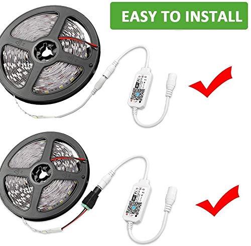 Juego de tiras LED regulables impermeables de 5 m IP 65 Tiras de 300 LED con fuente de alimentación 3A, Kit de tiras 2835 SMD Tiras de luces Tiras de luces, Blanco
