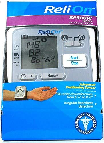 ReliOn Wrist Blood Pressure Monitor