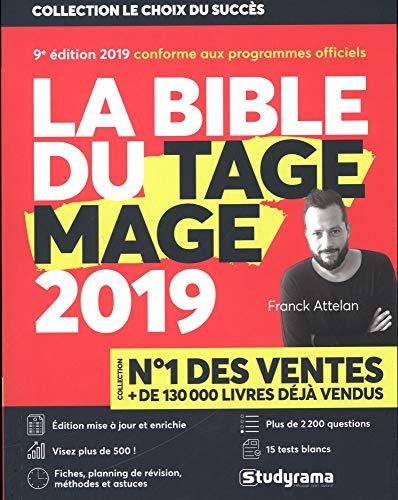 La Bible du TAGE MAGE - 9e édition 2019 - Visez plus de 500 - Fiches - 15 Tests blancs - Plus de...