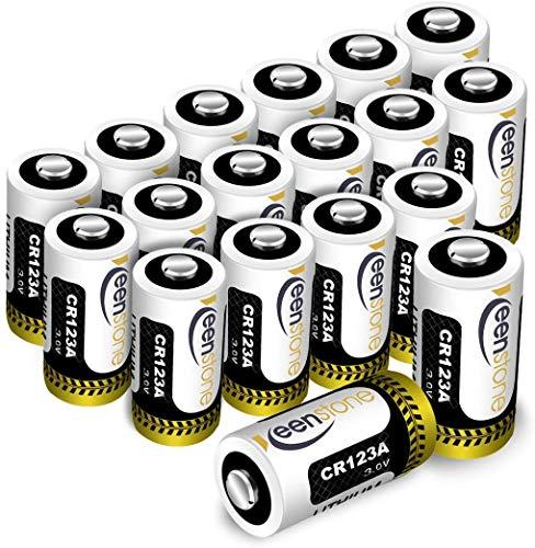 Keenstone CR123A Pilas Desechables 3V 1600mAh 18PCS Batería CR123A para Linterna, Cámara Digital, Videocámara, Juguetes, Antorcha, No USA en Arlo