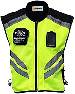 "Riding Tribe JK22 Men's Motorcycle Racing Sleeveless Jacket Safety Reflective Vest (4XL-1/2 Chest:20.07"", Green)"