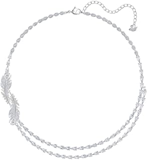 SWAROVSKI Women's Nice Necklace, White, Rhodium plated