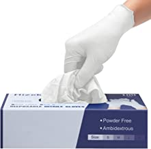 Nitrile Gloves,TOOCA 100 Pcs Disposable Gloves,4 mil,Latex Free,Powder Free,Nitrile Exam Gloves,Textured Extra Strong Clea...