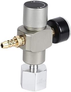 ガスレギュレータ2 in 1ミニCO2ガスレギュレータソーダ圧力計、アダプター3/8インチ、TR21.4付き