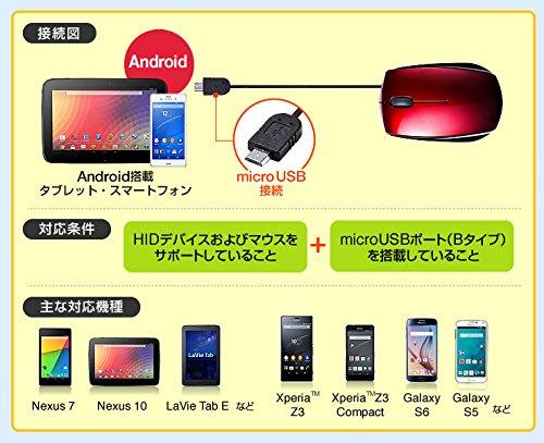 サンワダイレクト『microUSBマウス(400-MA063BK)』