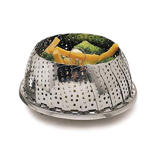 Kitchen Craft Edelstahl-Dampfkorb, aufklappbar, 28cm