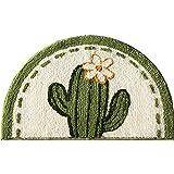 Cuartos de baño, baños de Entrada de Inodoro, colchonetas de Piso Absorbente, alfombras de Cama antideslizces, alfombras de Entrada a Domicilio-Cactus_50 × 80cm
