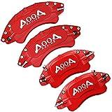 AOOA Coperchio pinza freno Coperchio pinza freno in alluminio, 4 pcs 12 colori disponibili, protezione pinza freno Adatto per la maggior parte delle auto Coperture pinze personalizzate (rosso)