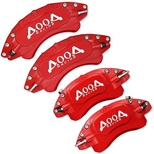 AOOA Cubiertas de pinza de freno Cubierta de pinza de freno de aleación de aluminio, 4 piezas (12 colores) Cubiertas de pinza personalizadas Adecuado para la mayoría de los automóviles (azul tiffany)