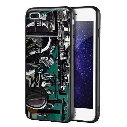 Max Beckmann Custodia per iPhone 7 Plus&iPhone 8 Plus/Custodia per Cellulare Art/Stampa giclée UV sulla Cover del Telefono(Los Puerto of Genoa)