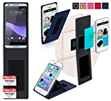 reboon Hülle für HTC Desire 650 Tasche Cover Hülle Bumper | Blau | Testsieger