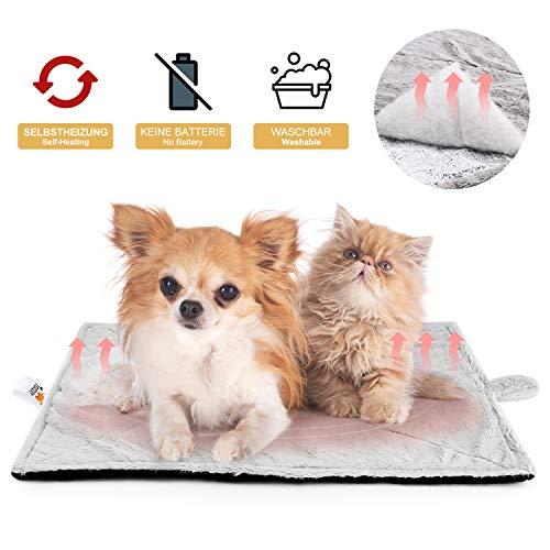 Toozey Selbstheizende Decke für Katzen & Hunde, Größe 68×48 cm Wärmematte für Haustiere, Katzendecke