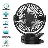 Mini USB Ventilateur de PC Portable, Ventilateur de Table avec Batterie Rechargeable...