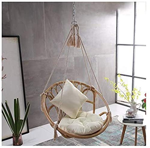 Chairs Balcony Suspension Lifts Household Single Green Cotton Rope Hanging Baskets Rattan Indoor Outdoor Swing Cradle