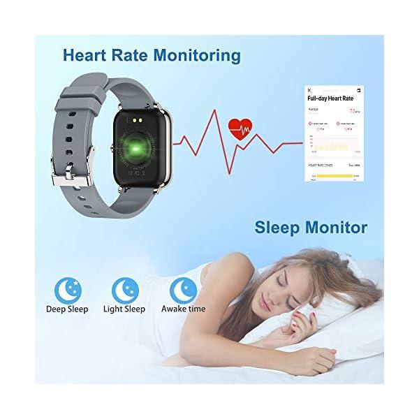 51aX1w56mPL. SS600  - Judneer Smartwatch, 1.4 Zoll Touch Farbdisplay Fitness Watch, Fitness Tracker Sportuhr, Fitnessuhr mit IP67 Wasserdicht und Schrittzähler, Pulsmesser und Schlafanalyse Smart Watch für Damen Herren