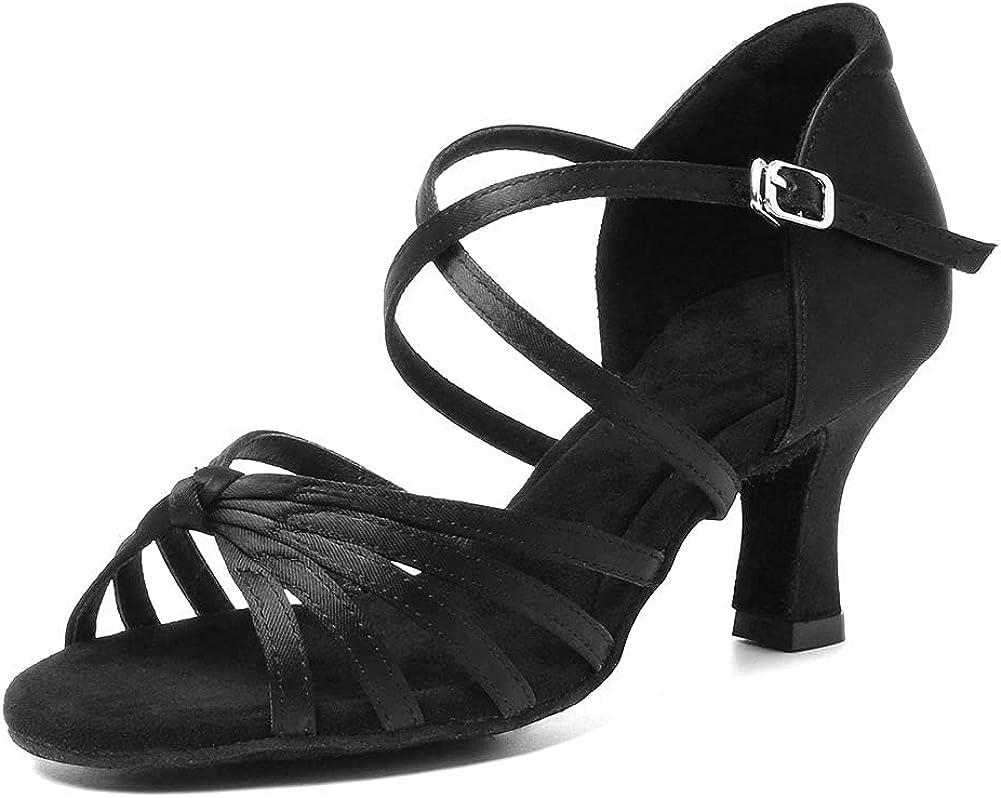 HIPPOSEUS Women Latin Dance Shoes Open Toe Ladies Ballroom Salsa Dance Practice Performance Shoes,Model WZJ-CL