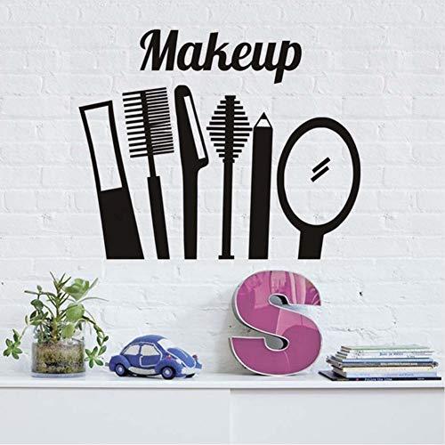 Zfkdsd Make Up Kamm Spiegel Wandaufkleber Küche Decor Vinyl Abnehmbare Wasserdichte Dekoration Wandtattoo 55 * 44 Cm