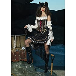 Deluxe Sultry Pirate Costume