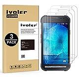 ivoler Kompatibel für Panzerglas Schutzfolie Samsung Galaxy Xcover 3, 9H Festigkeit, Anti- Kratzer, Bläschenfrei, [2.5D R&e Kante], [3 Stücke]