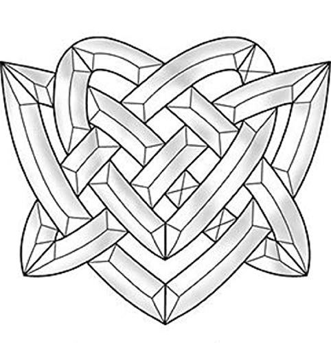 Stained Glass Supplies - Celtic Heart Bevel Cluster EC828
