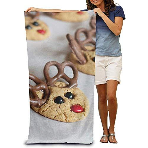utong Toallas de Playa 100% algodón 80x130cm Toalla de baño de Secado rápido Cute Biscuits Beach Blanket