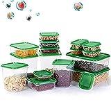 Juegos de Recipientes para Alimentos,TOPSEAS 17piezas Contenedor de alimentos,Contenedor de almacenamiento para la conservación de frutas y verduras selladas,organizador de cajas frescas con tapas
