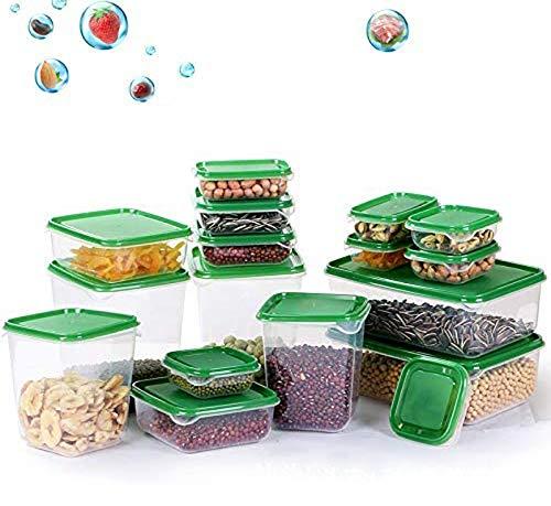 TOPSEAS Frischhaltedosen,17 Stück Aufbewahrungsbox Vorratsdosen Set Lunch-Box, Vorratsdosen, Aufbewahrungsdosen - Mikrowellen-, ofen- u. gefrierschrankgeeignet, spülmaschinenfest