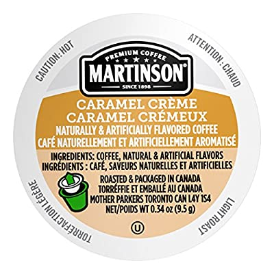 Martinson Single Serve Coffee Capsules, Caramel Creme, Compatible with Keurig K-Cup Brewers, 24 Count