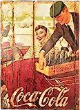 RetroReclamos Cuadro de Madera Vintage Coca Cola