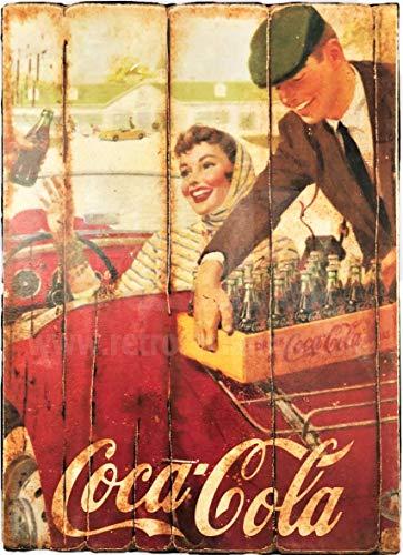 Desconocido Cuadro de Madera Vintage Coca Cola-RetroReclamos
