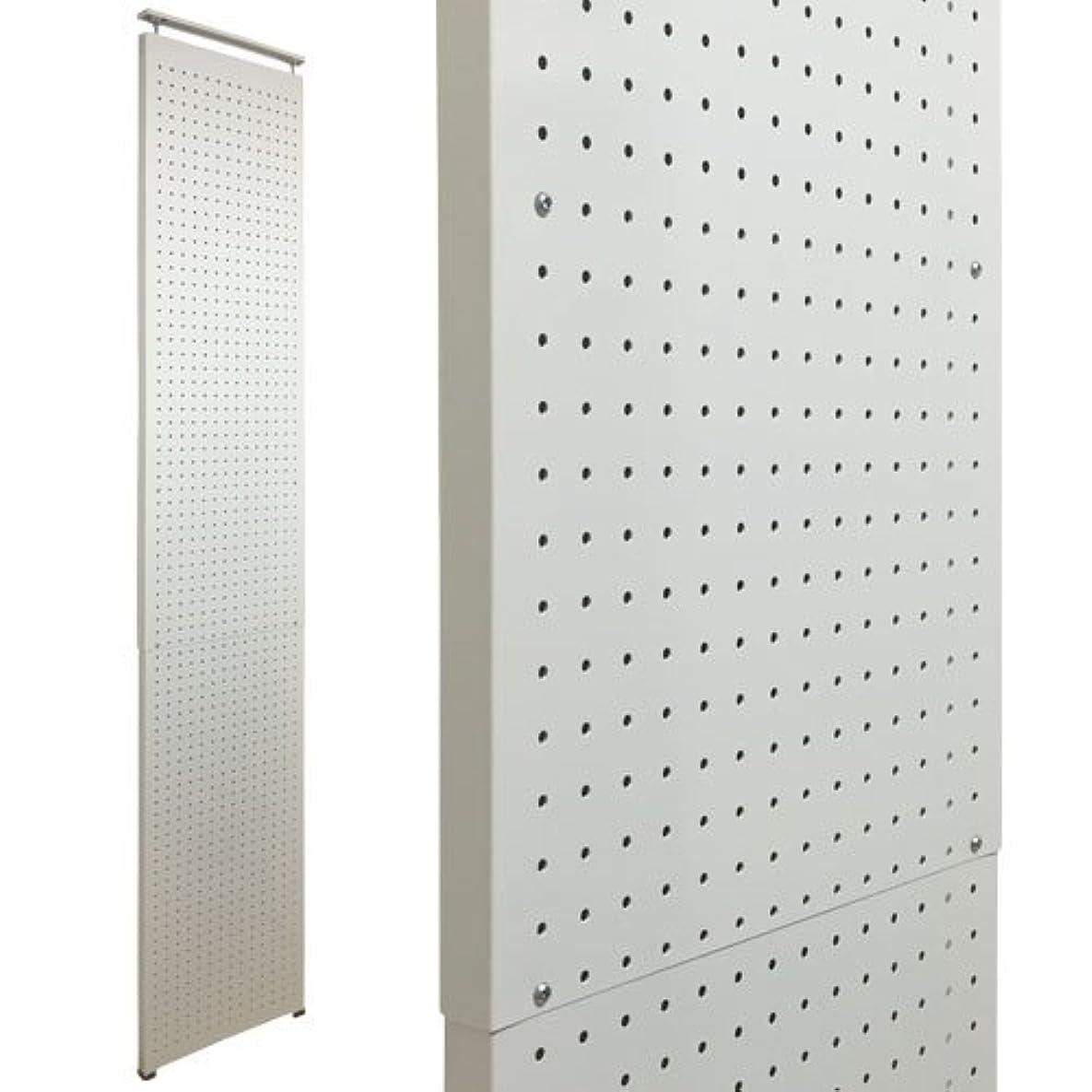 ネイティブピンク男らしさ壁面突っ張りパンチングラック 有孔ボード風 幅45×奥行3×高さ160~270cm 6.5φ-30P ホワイト