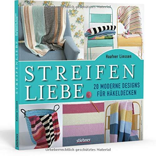 Streifenliebe: 20 moderne Designs für Häkeldecken