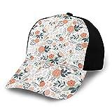 FULIYA Gorra de béisbol lisa lavada, inspirada en la naturaleza, con estilo botánico, ilustración de belleza retro y ajustable, regalo para hombres y mujeres
