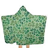 Toalla con capucha para niños, con estampado de flores, 81,3 x 134,8 cm, material suave, absorbe y seca rápidamente, toalla de playa con capucha