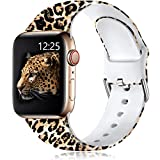 Muranne Cheetah Print Bands Compatible with Apple Watch Band SE 40mm 38mm iWatch Series 6 5 4 3 2 1 for Women Womens Men Leopard S/M