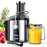 Nestling® 800W Centrifugal Juicer 4 Speed Juice Extractor Real 3'' Feeder Chute, Powerful Pulse Function, Digital Display Juice Maker Creates More Juice and High Nutrient Juicer Machine