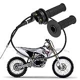 Mioloe 2 Pack 7/8'Manija del Acelerador Agarre la torsión con Conjunto de Cables para ATV Quad Pit Dirt Bike 90 110 125CC