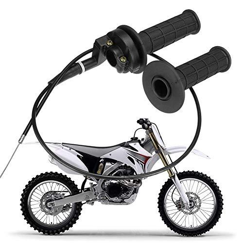 LAOOWANG 1 Paar 7/8 Twist Gasgriff mit Kabel für 90ccm 110ccm 125ccm Mini Fahrrad Tasche für Dirt Bike ATV Quad Cable-22mm