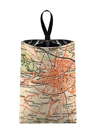 The Mod Mobile Auto Trash (Vintage Map) by car trash bag litter bag garbage can for your automobile